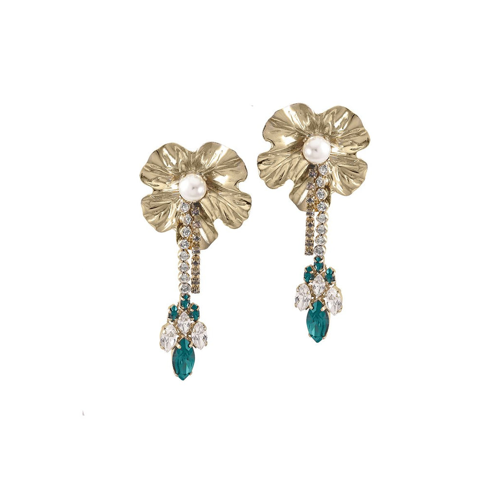Dangly Flower With Pendant Earrings | Anton Heunis | Fashion Accessories | Earring