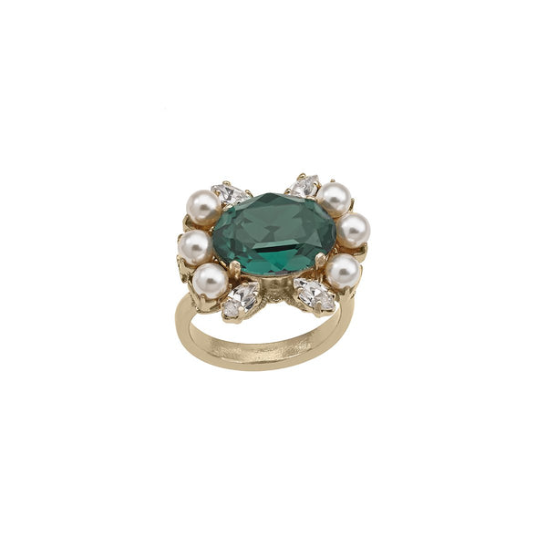 Emerald Cluster Ring | Anton Heunis | Fashion Accessories | Ring