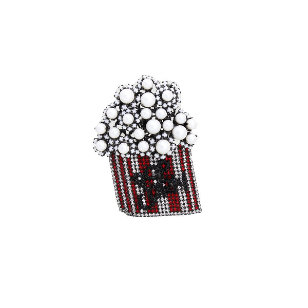Popcorn Red Broock | Lisa C | Fashion Accessories | Brooch