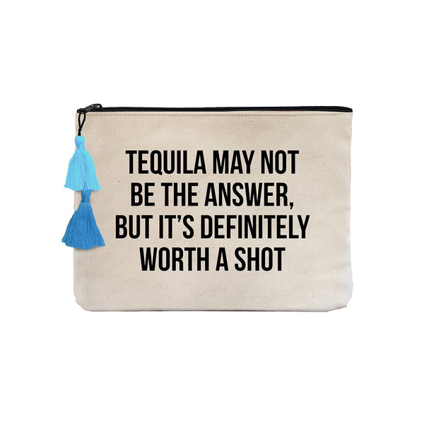 Tequila May Not Be The Answer Pouch Bag | Fallon & Royce | Bag | Beauty Cases
