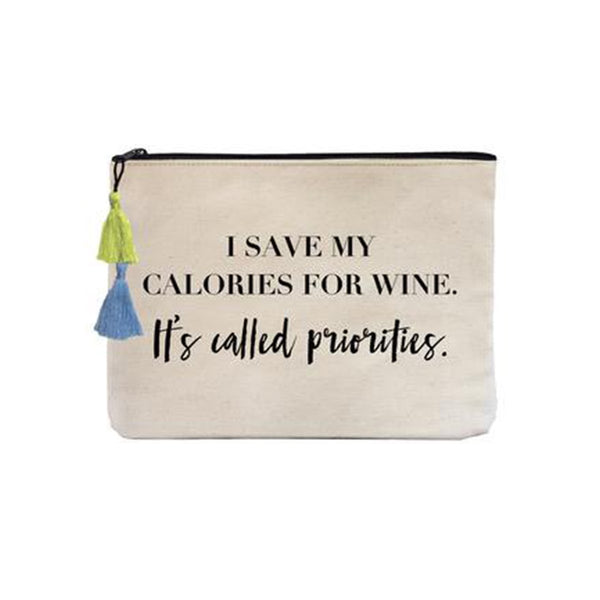 Save My Calories Canvas Pouch Bag | Fallon & Royce | Bag | Beauty Cases