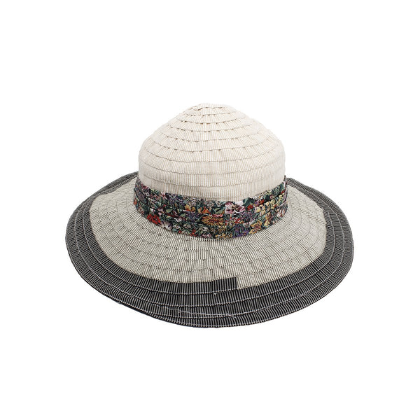 Multi Patchwork Cartwheel Hat | Grevi |Fashion Accessories | Hats