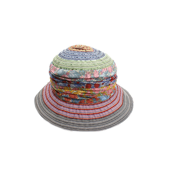 Multi Patchwork Cloche Hat | Grevi |Fashion Accessories | Hats