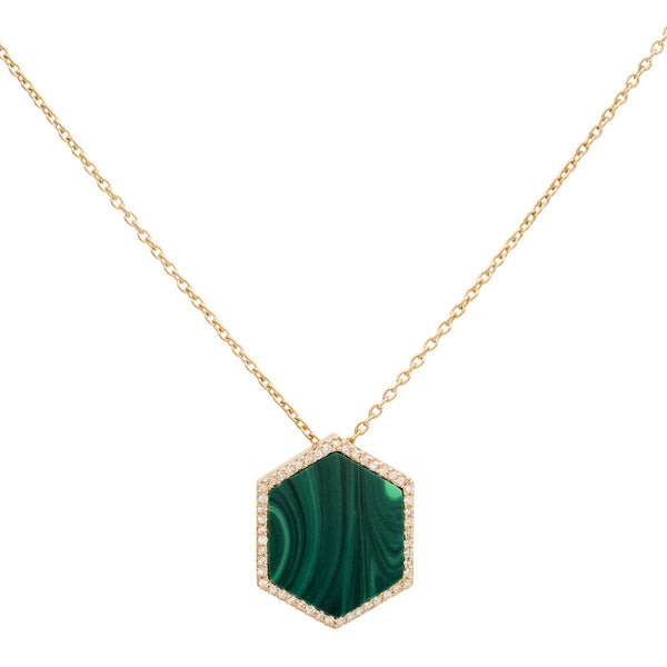18K Gold Hexagon Necklace | Latelier Nawbar | Fine Jewelry | Necklace