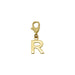 Customizable 18k gold initial pendant