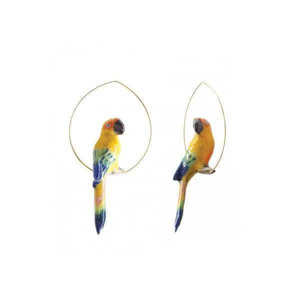 Sun Parrot Earrings | Nach Bijoux | Fashion Accessories | Earrings