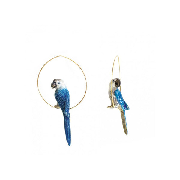 Blue And Grey Parrot Earrings | Nach Bijoux | Fashion Accessories | Earrings