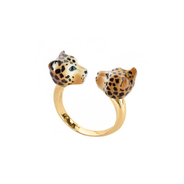 Leopard Face To Face Ring | Nach Bijoux | Fashion Accessories | Ring