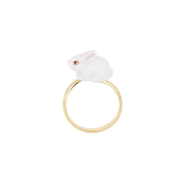 White Bunny Ring | Nach Bijoux | Fashion Accessories | Ring