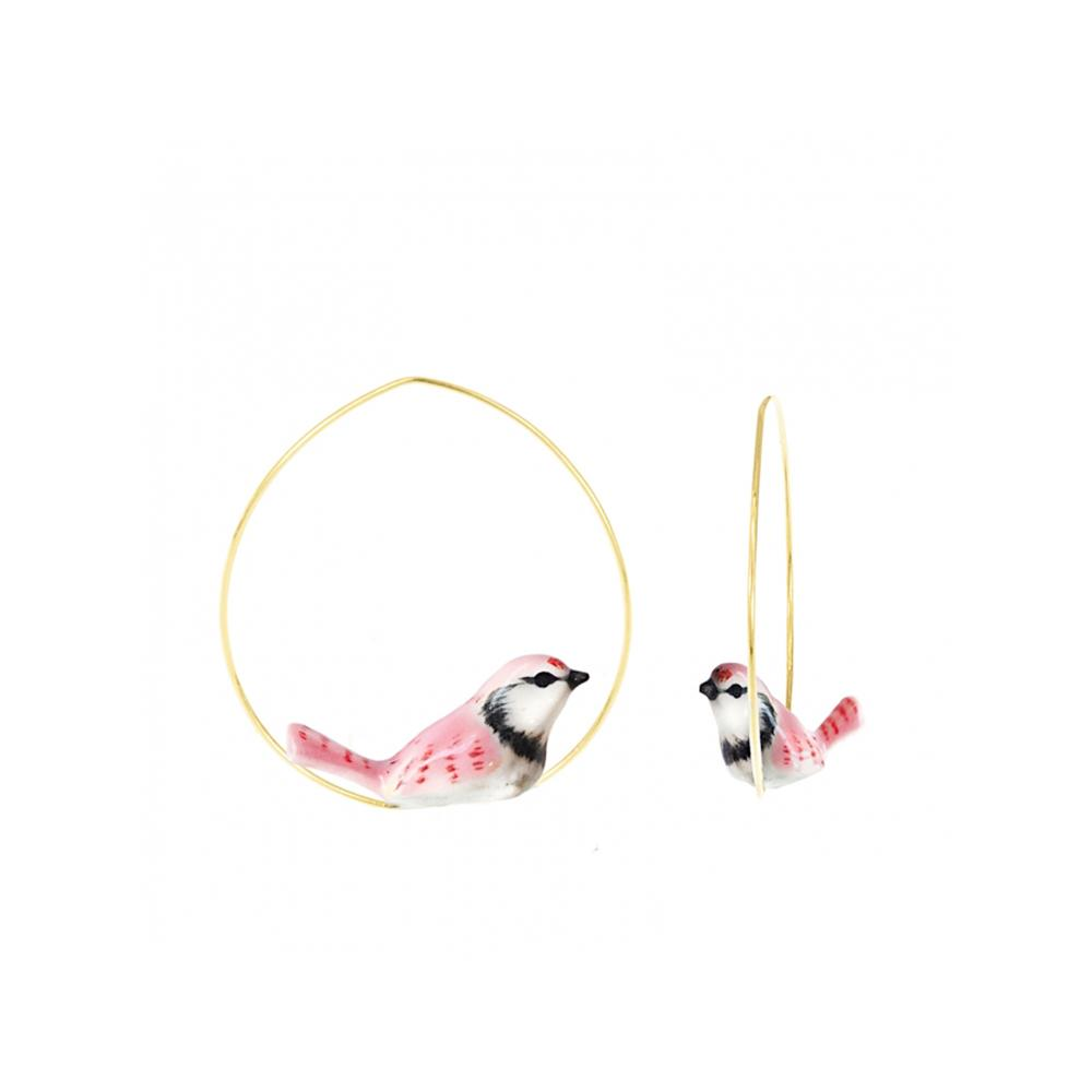 Pink Jay Bird Earrings | Nach Bijoux | Fashion Accessories | Earrings