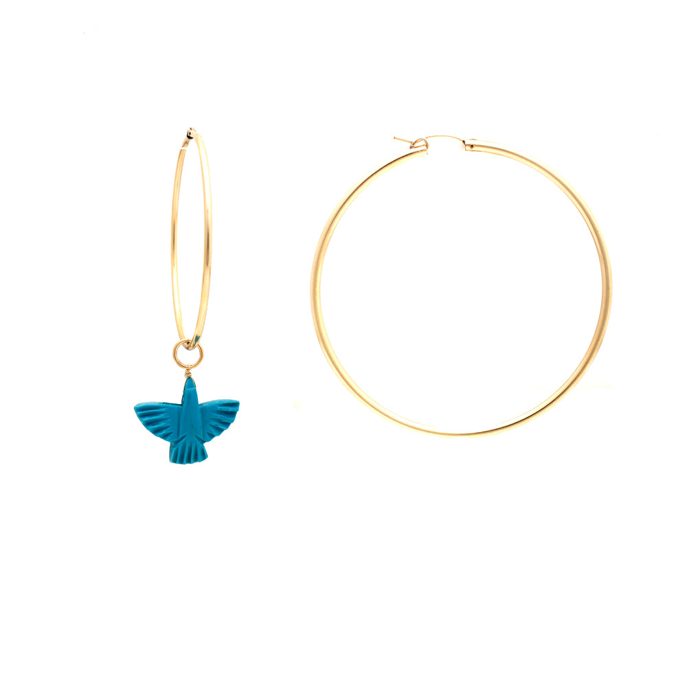 Turquoise Eagle Charm Earrings | Rue Belle | Fashion Accessories | Earrings