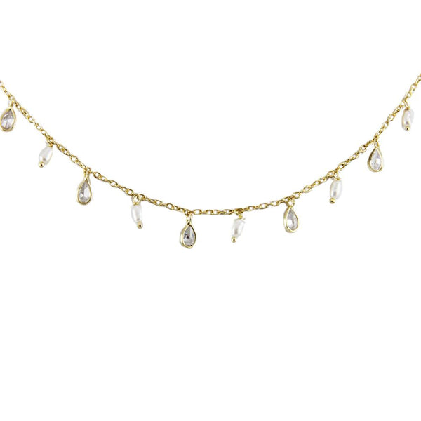 Pearls And Crystal Bead Necklace | Marcia Moran |Fashion Accessories | Necklace