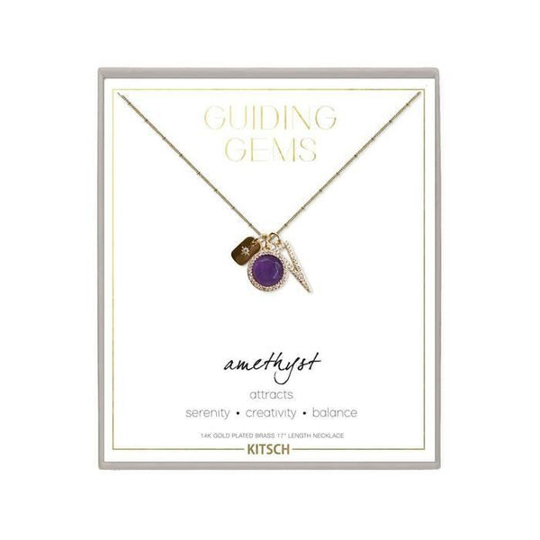 Amethyst Cluster Charm Necklace | Kit.sch | Fashion Accessories | Necklace