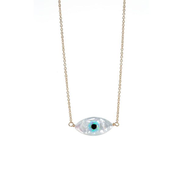 Evil Eye Oval Necklace | Bara Boheme | Fashion Accessories | Necklace