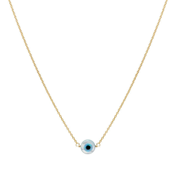 Mother Of Pearl Evil Eye Necklace | Bara Boheme | Fashion Accessories | Necklace