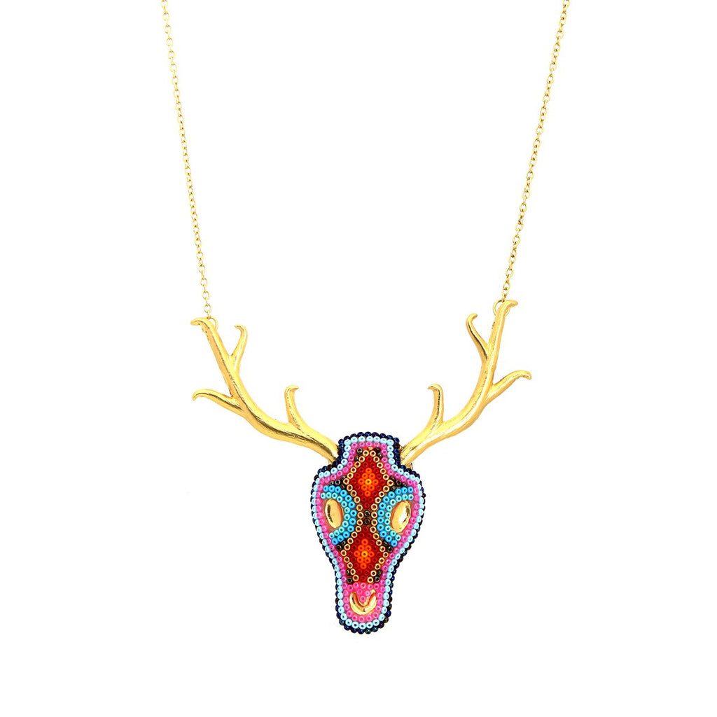 Deer Pewter Choker | Morena Marini | Fashion Accessories |Necklace