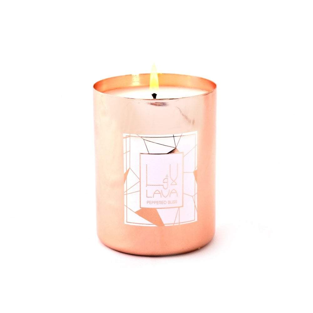 Peppered Bliss Rose Gold Cotainer Candle | Lava Candles | Home Accessories | Candles