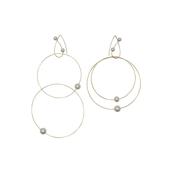 White Pearls Round Multi Wear Earrings | Melissa McArthur | Fashion Accessories | Earrings
