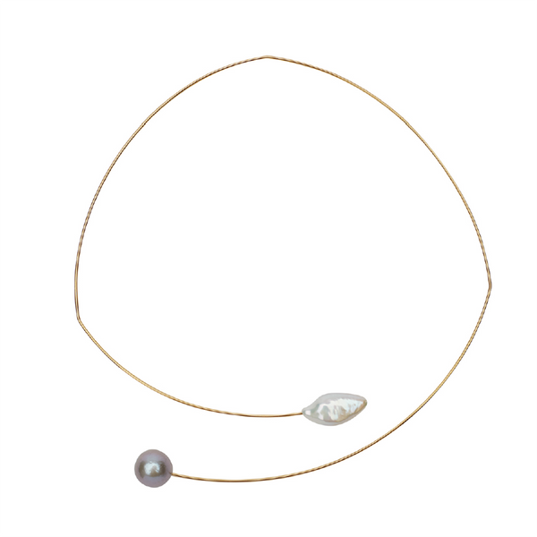 Square Assemetric Pearls Necklace | Melissa McArthur | Fashion Accessories | Necklace