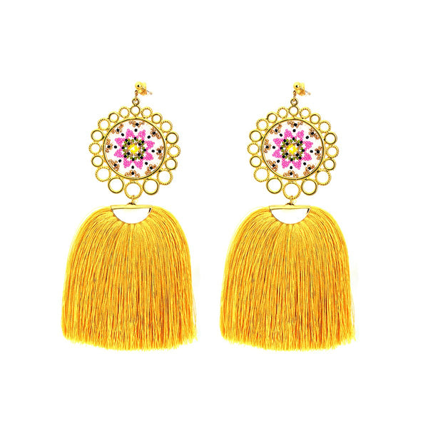 Large Dream Catcher Earrings | Morena Marini | Fashion Accessories |Earrings