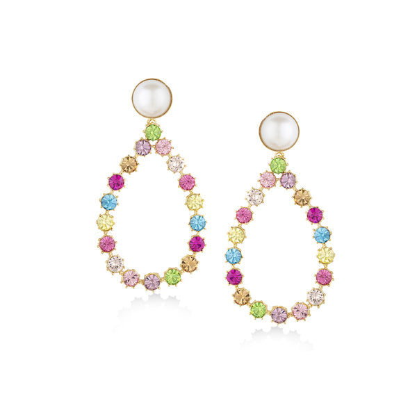 Teardrop Shape Multi Coloured Earrings | Zayn | Fashion Accessories | Earrings
