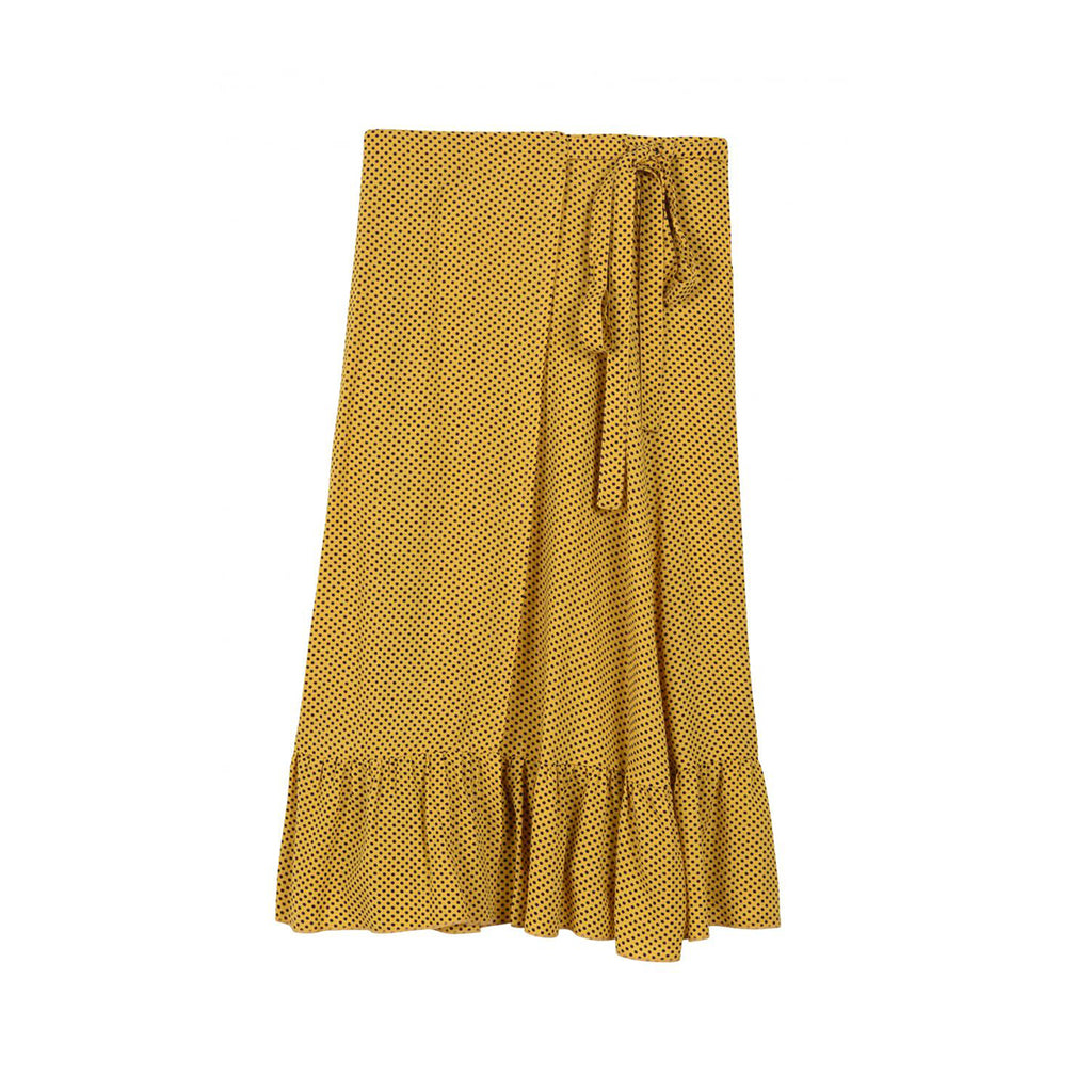 Jumpy Dots Yellow Midi Skirt | Leon & Harper | Clothes | Bottoms