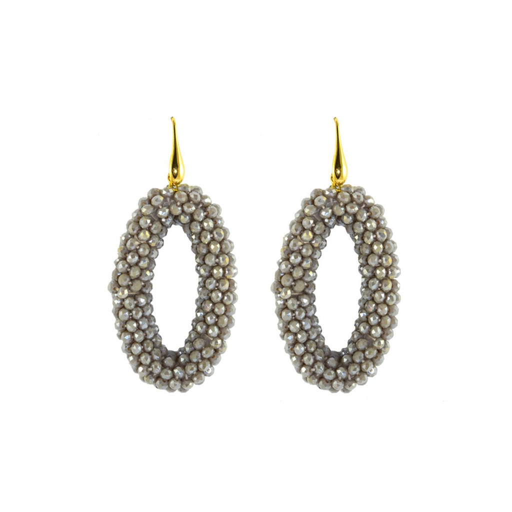 Grey Ovals Earrings | Miccy's Jewelry |Fashion Accessories | Earrings