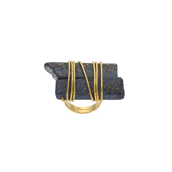 Lapis Ring | Monmu Jewelry | Fashion Accessories | Necklace