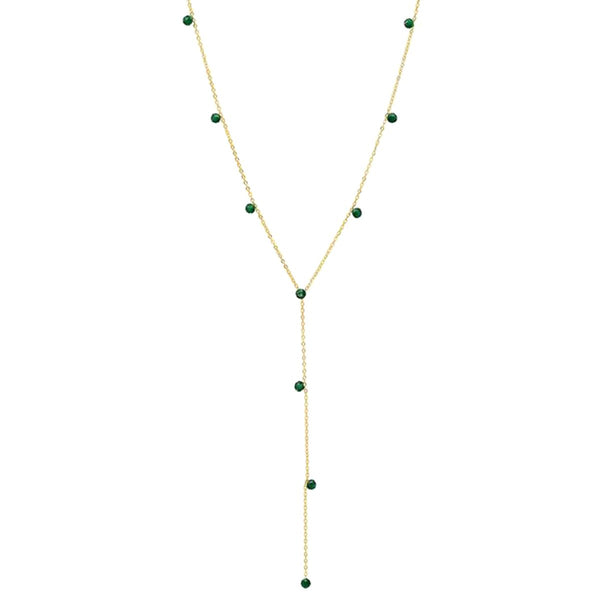 Green Beads Y Necklace| Tai | Fashion Accessories | Necklace