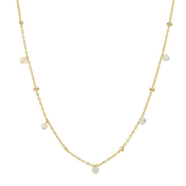 Gold Nuggets And Mini Lab Beads Necklace| Tai | Fashion Accessories | Necklace