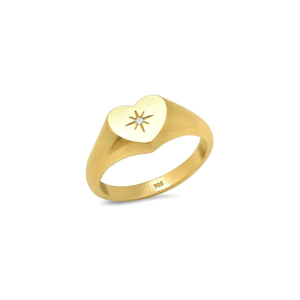 7 Heart Signet Ring| Tai | Fashion Accessories |