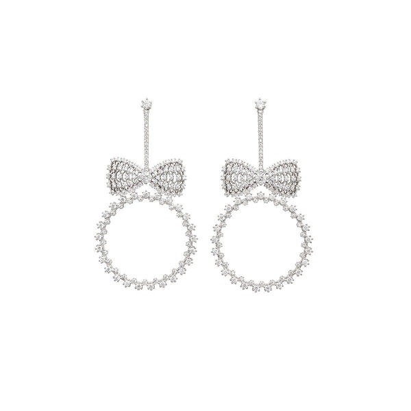 Bow And Hoop Drop Earrings | Fallon | Fashion Accessories | Earrings