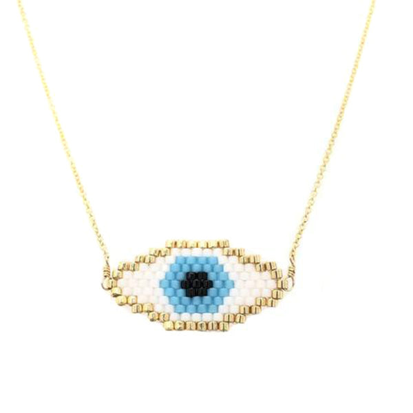 White Evil Eye Necklace | Bara Boheme | Fashion Accessories | Necklace