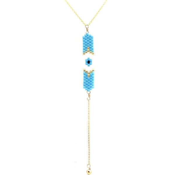 Blue Eye Bar Chain Necklace | Bara Boheme | Fashion Accessories | Necklace