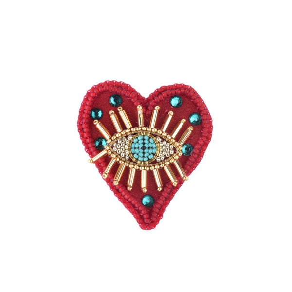 Turquoise Eye Love You Pin | Mishky | Fashion Accessories | Brooches