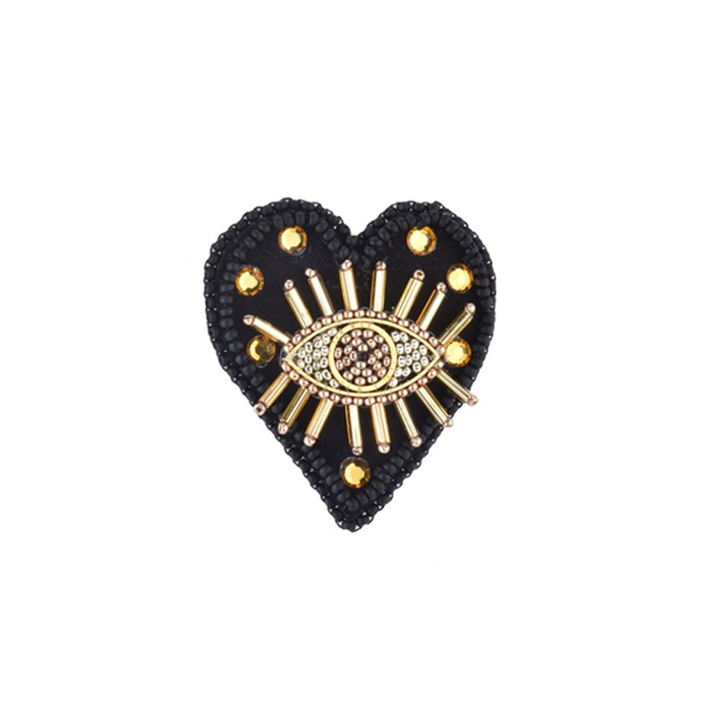 Black Eye Love You Pin | Mishky | Fashion Accessories | Brooches