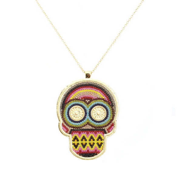 Multi Color Skull Necklace | Morena Corazon | Fashion Accessories | Necklaces