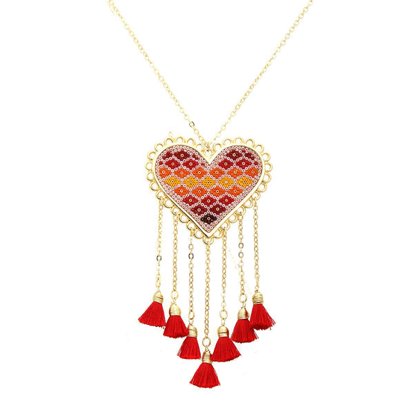 Hear Flore Design Necklace | Morena Corazon | Fashion Accessories | Necklaces