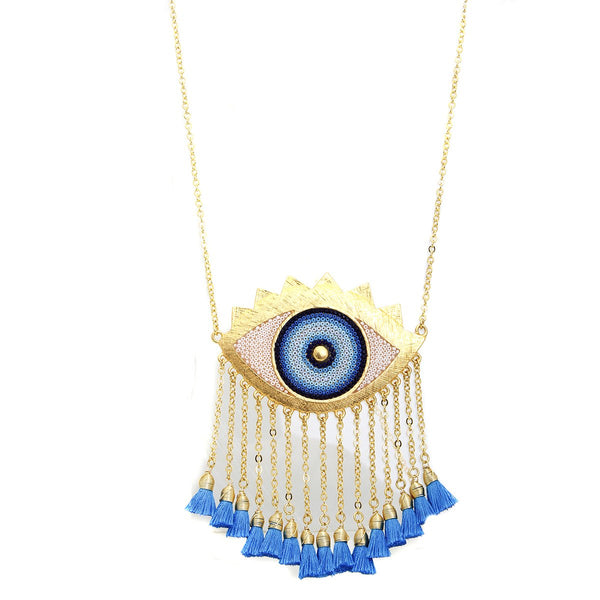 Eye Protection Tassel Necklace | Morena Corazon | Fashion Accessories | Necklaces