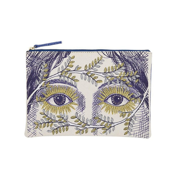 Eyes Blue Angel Embroidered Pouch | Inouitoosh | Bags Beauty Cases | Beauty Cases