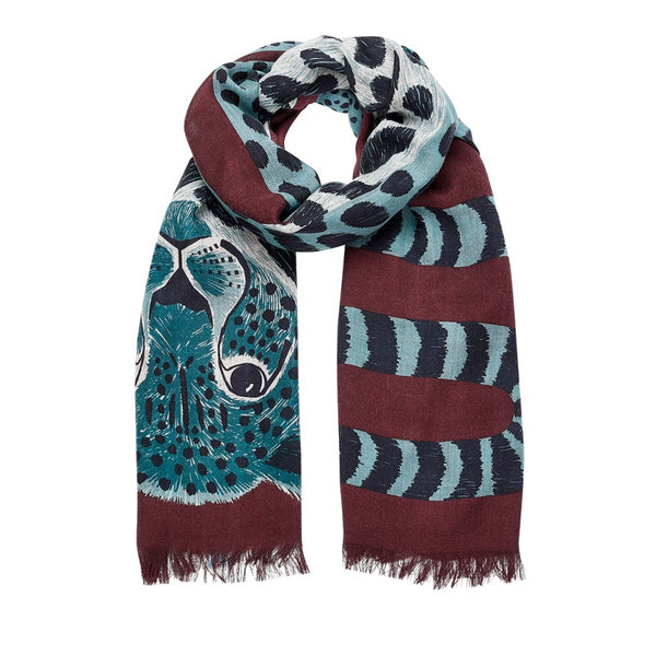 Chance Burgundy Scarf | Inouitoosh | Fashion Accessories | Shawls