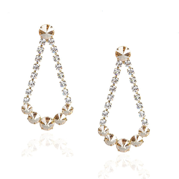White Strass And Black Diamonds Earrings | Zayn | Fashion Accessories | Earrings