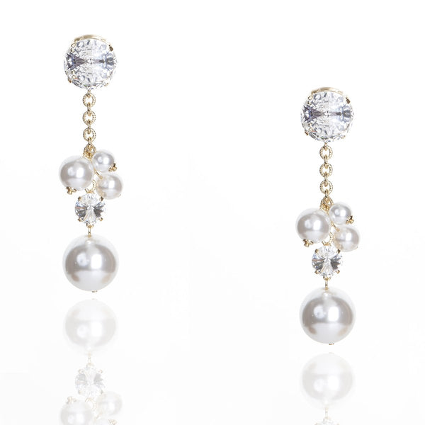 Long Pearl Cluster Earrings | Zayn | Fashion Accessories | Earrings