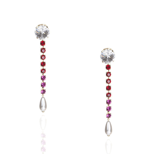 Fuschia Red Earrings | Zayn | Fashion Accessories | Earrings