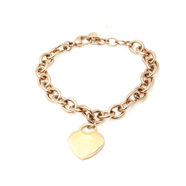 Rose Gold Heart Chain Bracelet | Boom & Mellow | Fashion Accessories |  Bracelets