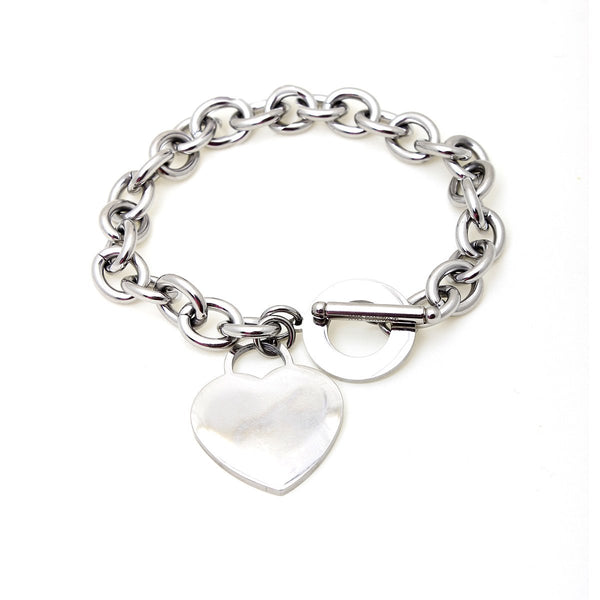 Silver Heart Chain Bracelet | Boom & Mellow | Fashion Accessories |  Bracelets