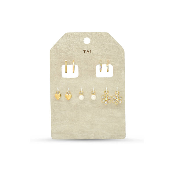 Set Of Five Interhangeable Charms Earrings | Tai | Fashion Accessories | Earrings
