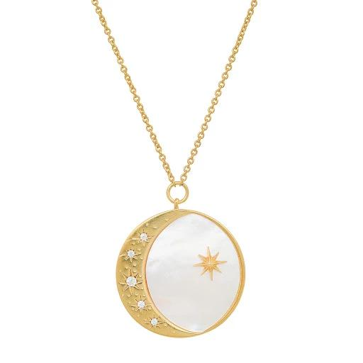 Mother Of Pearl Half Moon Necklace | Tai | Fashion Accessories | Necklace