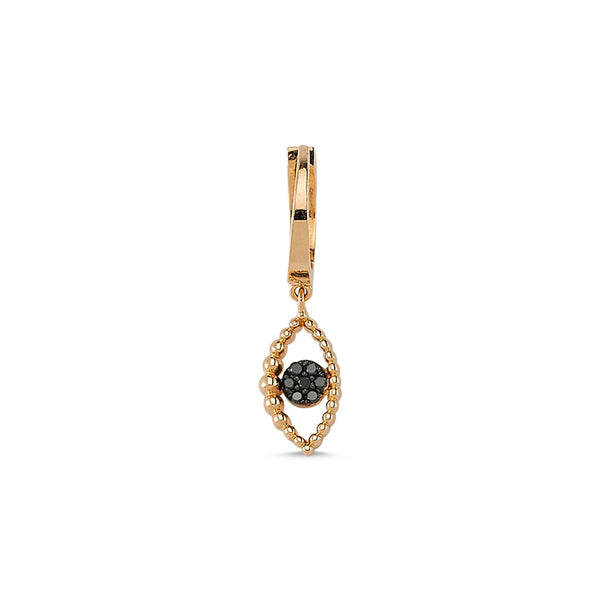 Single Piece 14K Gold Eye Drop Earring | Lope | Fine Jewelry | Earrings