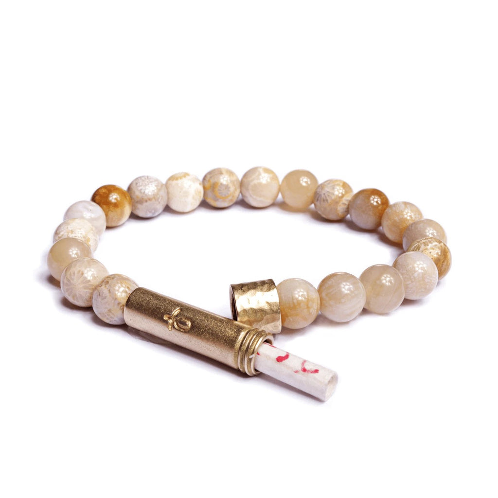 Polished Coral Jade Bracelet | Wish Beads | Fashion Accessories | Bracelet
